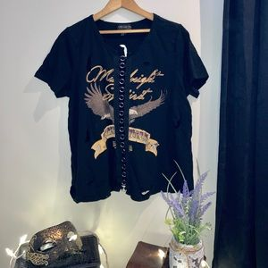 Forever 21 Black Graphic Tee